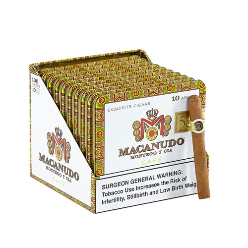 Macanudo Cafe Ascot Cigarillos Connecticut Pack of 100