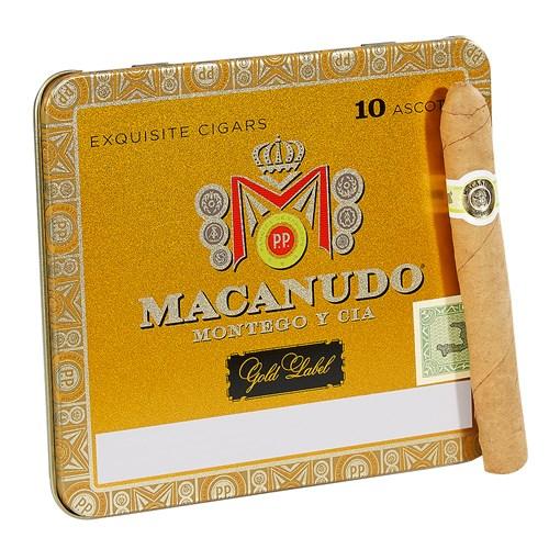 Macanudo Gold Label Ascots Cigarillo Connecticut